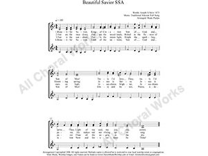 Beautiful Savior Female Choir Sheet Music SSA 3-part Make unlimited copies of sheet music and the practice music.
