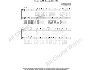 Breathe On Me Breath of God Male Choir Sheet Music TB 2-part Make unlimited copies of sheet music and the practice music.