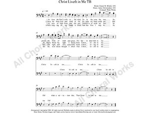 Christ Liveth in Me Male Choir Sheet Music TB 2-part Make unlimited copies of sheet music and the practice music.