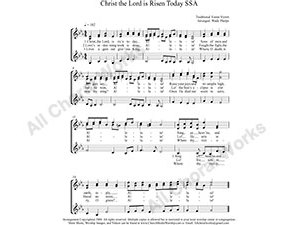 Christ the Lord is Risen Today Female Choir Sheet Music SSA 3-part Make unlimited copies of sheet music and the practice music.