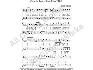 Christ the Lord is Risen Today Male Choir Sheet Music TTBB 4-part Make unlimited copies of sheet music and the practice music.