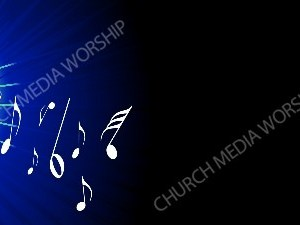 Flare with Notes Blue Christian Background Images HD