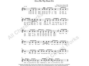 Give me thy heart Female Choir Sheet Music SA 2-part Make unlimited copies of sheet music and the practice music.