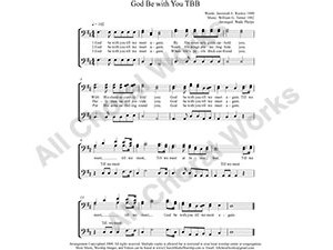 God Be with You Male Choir Sheet Music TBB 3-part Make unlimited copies of sheet music and the practice music.