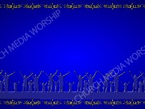 Golden Frame - Family Worship- Blue Christian Background Images HD