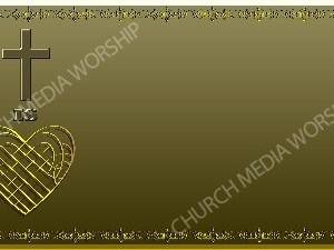 Golden Frame - Heart Cross- Gold Christian Background Images HD