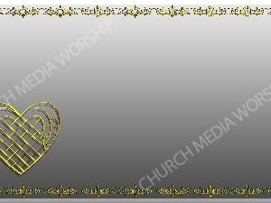 Golden Frame - Heart - Silver Christian Background Images HD