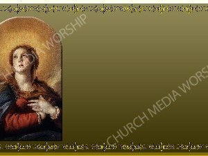 Golden Frame - Immaculate Conception - Gold Christian Background Images HD