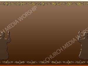 Golden Frame - Kneeling in Prayer - Bronze Christian Background Images HD