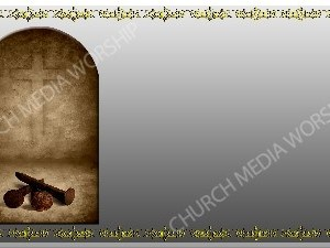 Golden Frame - Nails to the Cross - Silver Christian Background Images HD