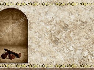 Golden Frame - Nails to the Cross - Stone Christian Background Images HD