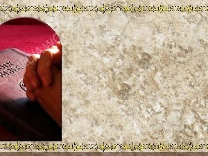 Golden Frame - Praying with the Bible - Stone Christian Background Images HD