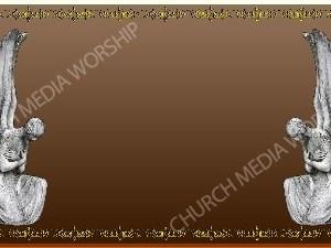 Golden Frame - Stone Angels - Bronze Christian Background Images HD