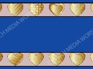 Golden Hearts of love Blue Christian Background Images HD