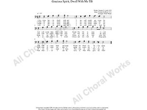 Gracious Spirit Dwell With Me Male Choir Sheet Music TB 2-part Make unlimited copies of sheet music and the practice music.