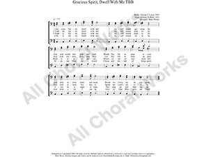 Gracious Spirit Dwell With Me Male Choir Sheet Music TBB 3-part Make unlimited copies of sheet music and the practice music.