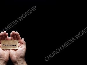 Hand holding a precious secret - Overcomer Christian Worship Background. High quality worship images for use to spread the Gospel and enhance the worship experience.