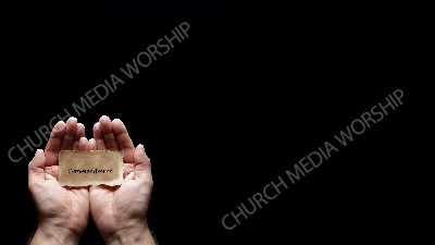 Hand holding a precious secret - Commandment Christian Worship Background. High quality worship images for use to spread the Gospel and enhance the worship experience.
