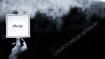 Hand holding note BandW - Christ Christian Worship Background. High quality worship images for use to spread the Gospel and enhance the worship experience.