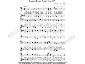 Hark the Herald Angels Sing Female Choir Sheet Music SSA 3-part Make unlimited copies of sheet music and the practice music.