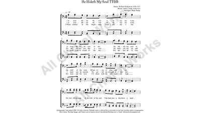 He Hideth My Soul Male Choir Sheet Music TTBB 4-part Make unlimited copies of sheet music and the practice music.