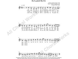 He Leadeth Me Female Choir Sheet Music SA 2-part Make unlimited copies of sheet music and the practice music.