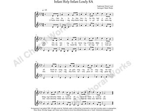 Infant Holy Female Choir Sheet Music SA 2-part Make unlimited copies of sheet music and the practice music.