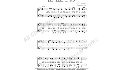 Infant Holy Female Choir Sheet Music SSAA 4-part Make unlimited copies of sheet music and the practice music.