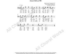 Jesus Calls Us Male Choir Sheet Music TB 2-part Make unlimited copies of sheet music and the practice music.