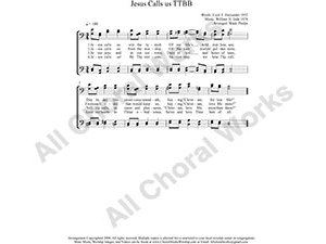 Jesus Calls Us Male Choir Sheet Music TTBB 4-part Make unlimited copies of sheet music and the practice music.