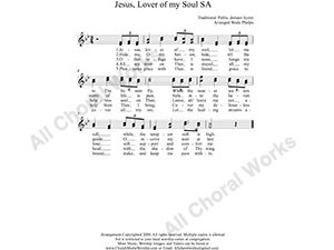 Jesus Lover of my soul Female Choir Sheet Music SA 2-part Make unlimited copies of sheet music and the practice music.