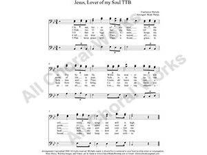 Jesus Lover of my soul Male Choir Sheet Music TBB 3-part Make unlimited copies of sheet music and the practice music.