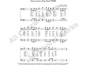 Jesus Lover of my soul Male Choir Sheet Music TTBB 4-part Make unlimited copies of sheet music and the practice music.