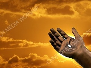 JesusBronzeHand Christian Worship Background. High quality worship images for use to spread the Gospel and enhance the worship experience.