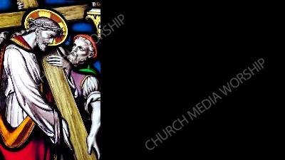 JesusCarriesCross-Black Christian Worship Background. High quality worship images for use to spread the Gospel and enhance the worship experience.