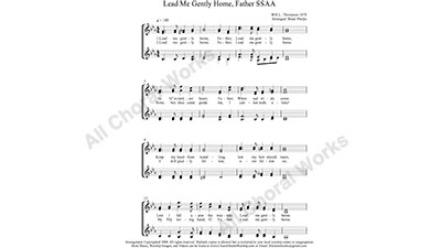 Lead Me Gently Home Father Female Choir Sheet Music SSAA 4-part Make unlimited copies of sheet music and the practice music.