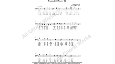 Near To The Heart of God Male Choir Sheet Music TB 2-part Make unlimited copies of sheet music and the practice music.