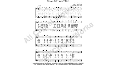 Nearer still nearer Male Choir Sheet Music TTBB 4-part Make unlimited copies of sheet music and the practice music.