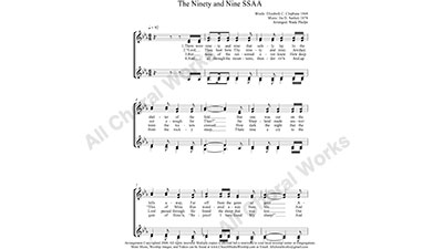 Ninety and Nine Female Choir Sheet Music SSAA 4-part Make unlimited copies of sheet music and the practice music.