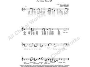 No Night There Female Choir Sheet Music SA 2-part Make unlimited copies of sheet music and the practice music.