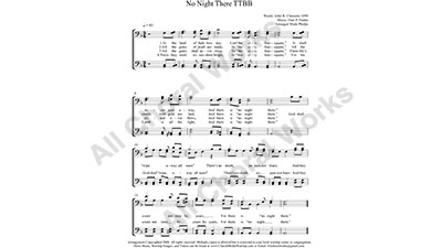 No Night There Male Choir Sheet Music TTBB 4-part Make unlimited copies of sheet music and the practice music.