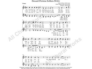 Onward Christian Soldiers Female Choir Sheet Music SSAA 4-part Make unlimited copies of sheet music and the practice music.