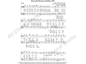 Onward Christian Soldiers Male Choir Sheet Music TB 2-part Make unlimited copies of sheet music and the practice music.