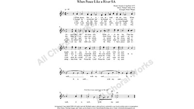 Peace like a River Female Choir Sheet Music SA 2-part Make unlimited copies of sheet music and the practice music.