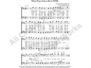 Peace like a River Male Choir Sheet Music TTBB 4-part Make unlimited copies of sheet music and the practice music.