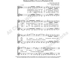 Redeemed How I Love To Proclaim It Female Choir Sheet Music SA 2-part Make unlimited copies of sheet music and the practice music.