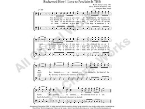 Redeemed How I Love To Proclaim It Male Choir Sheet Music TBB 3-part Make unlimited copies of sheet music and the practice music.
