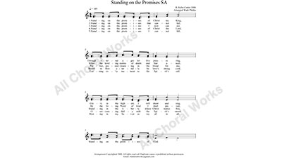 Standing on the Promises Female Choir Sheet Music SA 2-part Make unlimited copies of sheet music and the practice music.