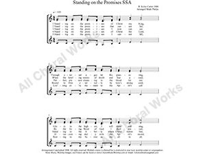 Standing on the Promises Female Choir Sheet Music SSA 3-part Make unlimited copies of sheet music and the practice music.