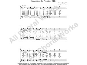 Standing on the Promises Male Choir Sheet Music TBB 3-part Make unlimited copies of sheet music and the practice music.